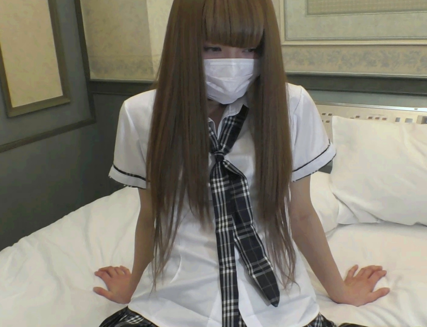 FC2 PPV 852426 Raw sex 18-year-old, small tits slender body type in J ○ uniform in cute white gal pie